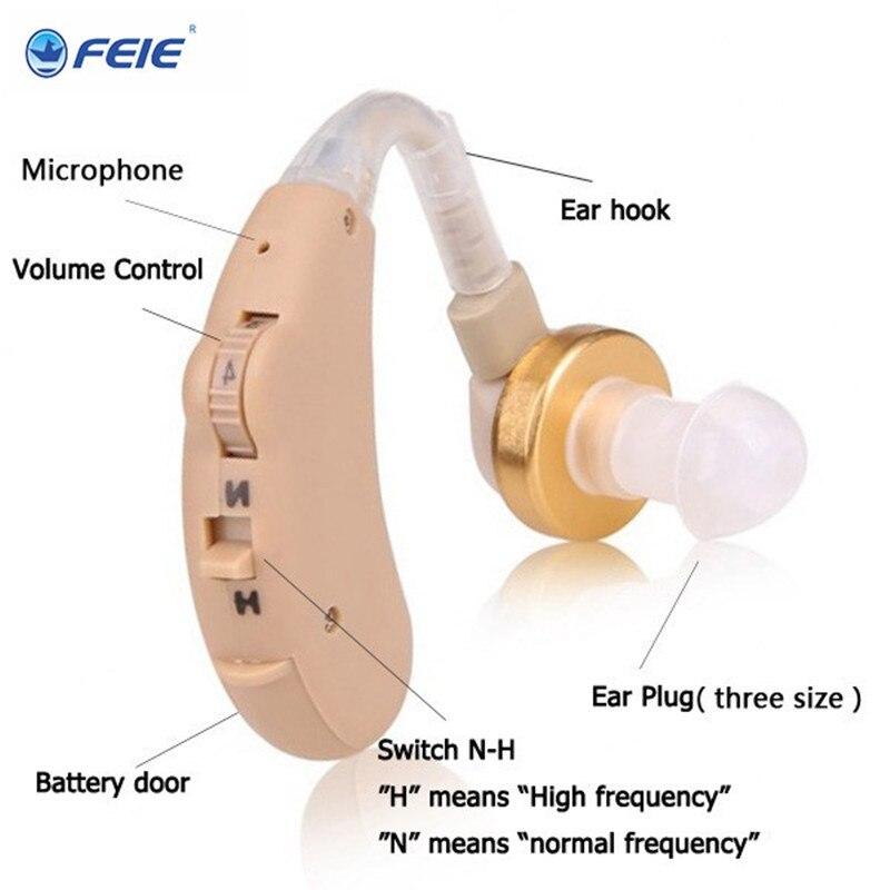 BTE Hearing Aid Kit Voice Volume Adjustable Ear Sound Amplifier Digital Tone S 185 Deaf Headphone