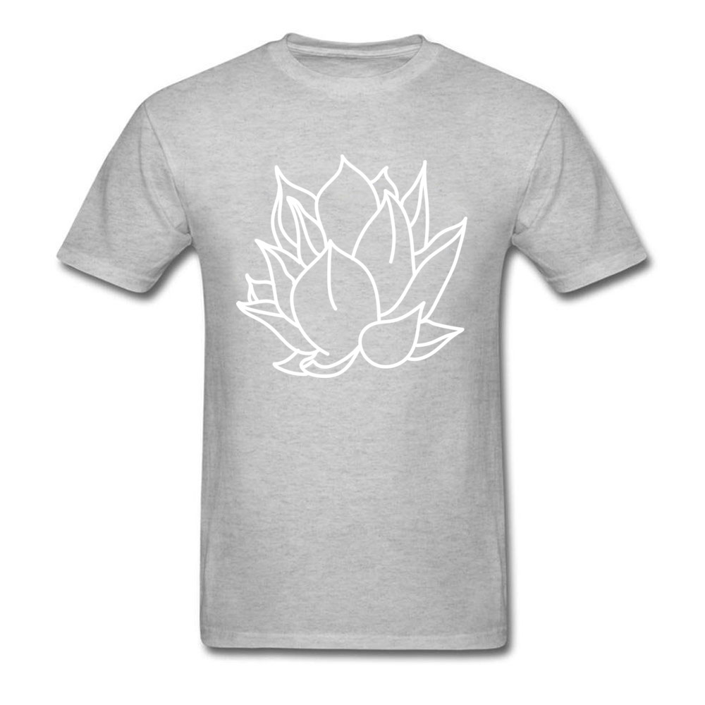 White Lotus T-Shirt 2018 Latest Father Day Short Sleeve Crewneck Tops Shirt All Cotton Mens Design Tee Shirts Simple Style