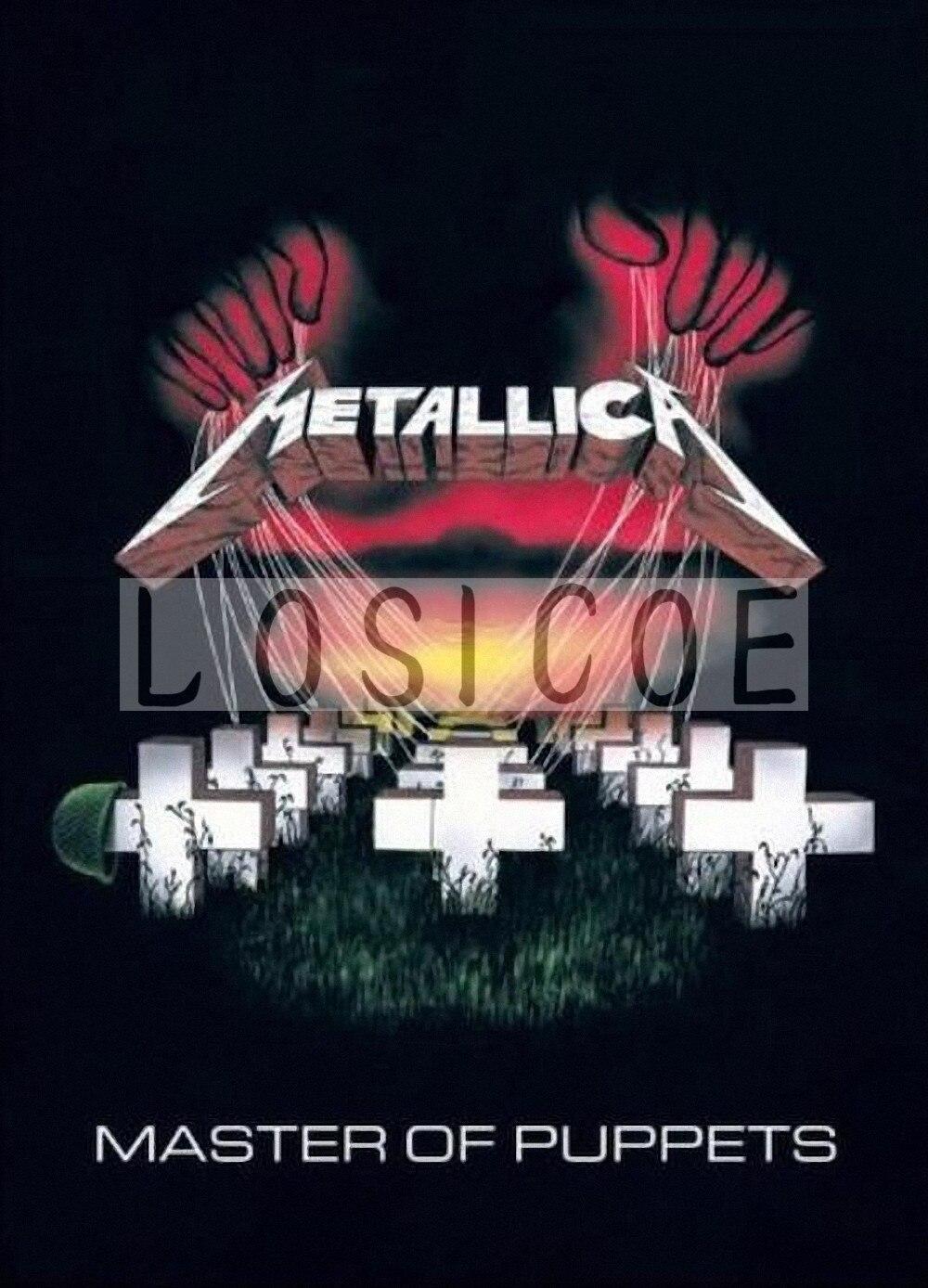 Metallica Retro kraftpapier poster flip grafik wandaufkleber malerei ...