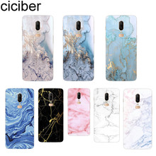 ciciber New Luxury Glossy Marble For Oneplus 6 5 T Soft Silicon TPU Back Cover Clear For 1+ 6 1+5 T Phone Cases Fundas Capa цена и фото