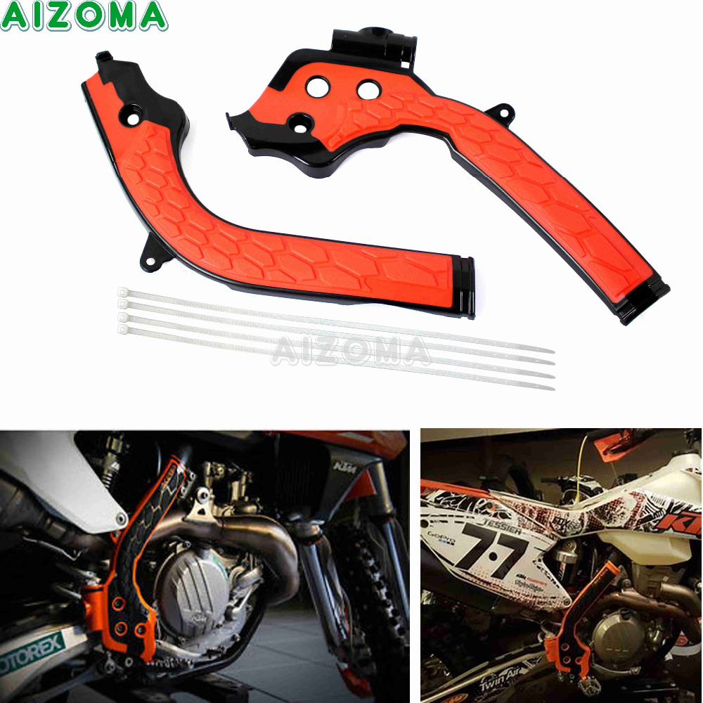 Orange Dirt Bike Frame Guard Motocross Frameguards For KTM SX SXF EXC EXC-F 125 250 300 350 450 2016-2018 Husqvarna TE TC FE FC
