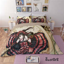 Mxdfafa Anime DATE A LIVE  Duvet Cover Set bedding set Luxury Comforter Bedding Sets Include 1 and 2 pillow cover