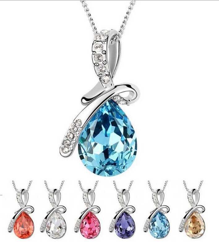 2014-Fashion-Women-Necklace-Hot-Selling-Water-Drop-pendant-necklace-Elegant-Women-Jewelry