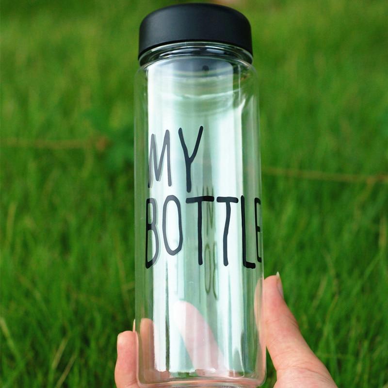 My Bottle 500ml Fashion Sport My Bottle Clear Plastic Bottle Juice Readily Space Water Bottle