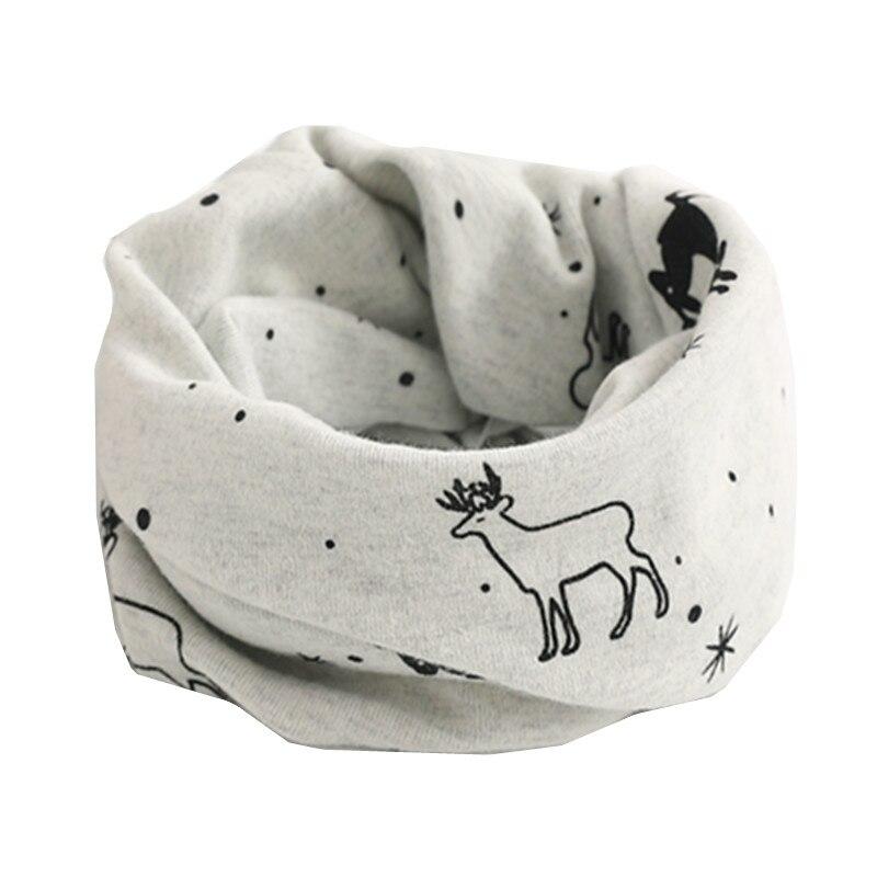 Осенне-зимний детский хлопковый шарф для девочек и мальчиков теплые шарфы Детский круглый кольцевой ошейник Детский шарф детский волшебный шейный платок - Цвет: gray deer