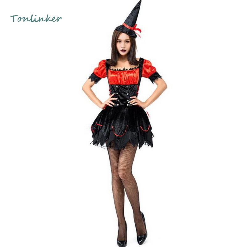 <font><b>Halloween</b></font> Costume <font><b>Sexy</b></font> Lovely Small <font><b>Witch</b></font> Costumes Adult <font><b>Women</b></font> Party Carnival Stage Cosplay Fancy Dress image