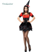 Halloween Costume Sexy Lovely Small Witch Costumes Adult Women Party Carnival  Stage Cosplay Fancy Dress цены онлайн
