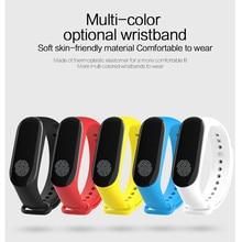 Banda inteligente pulsera M3 inteligente smartwatch 0.78 polegada com monitor de freqüência cardíaca pedômetro pressão arterial para ios Android