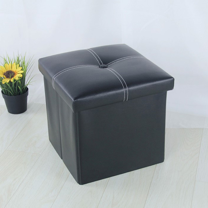 Free Shipping 30cm Pu Foot  Square Stool With Storage Space Living Room Ottoman Children Stool Kids Storage Toy Box Footrest