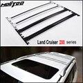 OE модель багажник на крышу Продольный брус крыши крест бар для Toyota Land Cruiser 200 V8 LC 200 LC200 2008-2019, серебристый/черный, ISO9001: 2008 Качество