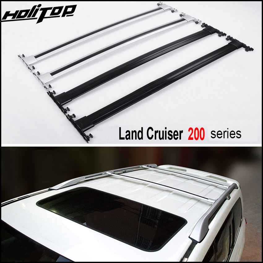OE modelo barra transversal telhado ferroviário rack de teto para Toyota Land Cruiser 200 LC 200 LC200 V8 2008-2019, prata/preto, ISO9001: 2008 qualidade