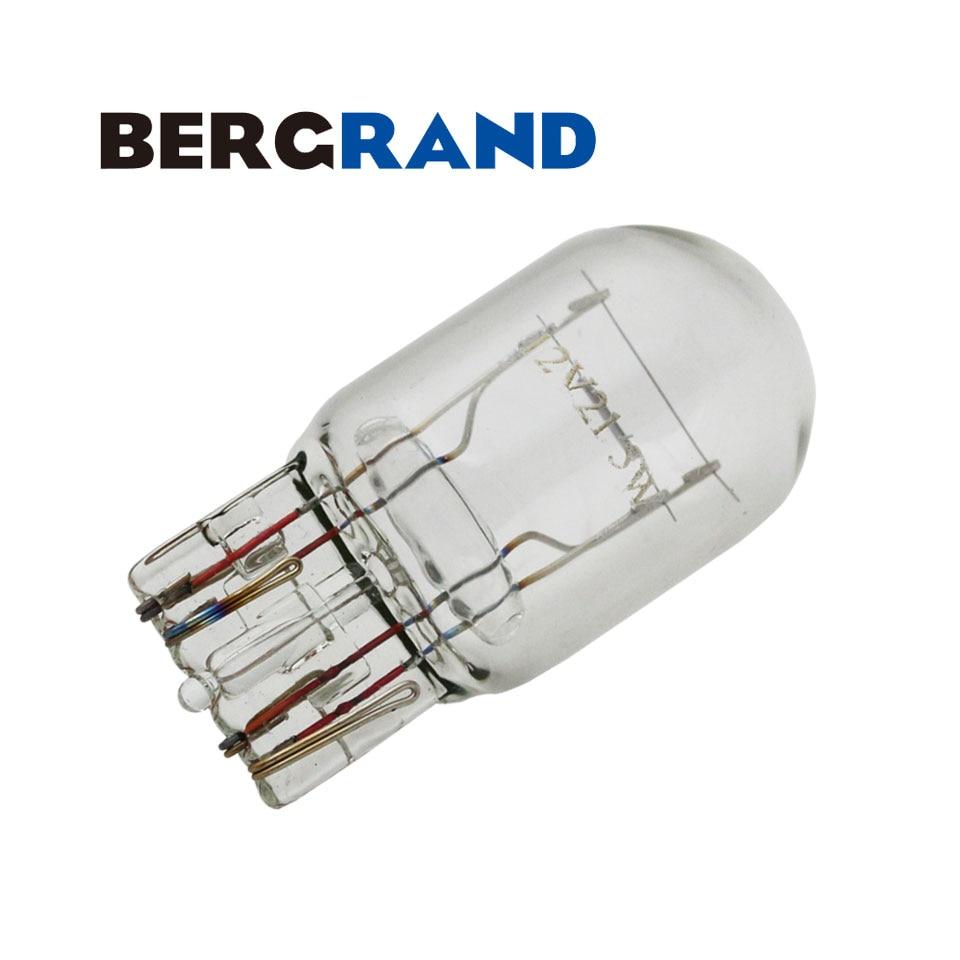10 PCS DRL T20 7443 W21 / 5 W 580 Lâmpada de halogéneo de vidro claro luz de circulação diurna luz de mudança de direcção lâmpadas de luz para auto Car Styling