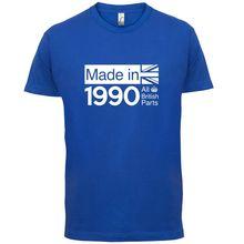 1990 British Parts - 26th Birthday Mens T-Shirt 13 Colours Gift PresentPrint T Shirt Short Sleeve Hot