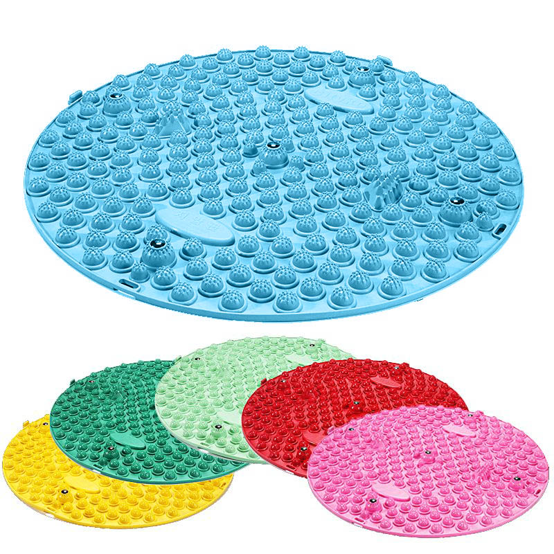 TPE Round Reflexology Foot Massage Pad Toe Pressure Plate Mat Blood Circulation Shiatsu Sheet Health Tools HS11