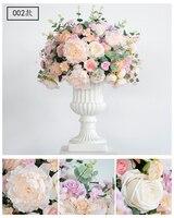Big Size Dia 60cm artificial silk hydrangea rose road lead huge flowers wedding decorative centerpiece pink flower 2pcs/lot