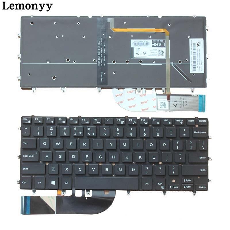 New Keyboard FOR DELL XPS 13 9343 xps13 9350 15BR N7547 N7548 17-3000 0DKDXH NSK LS0BW US BLACK laptop keyboard Backlight