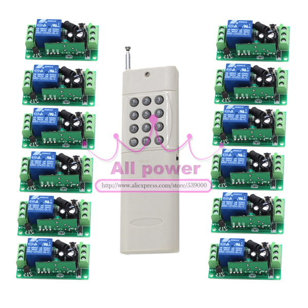 все цены на DC 12V 1 CH 1CH RF Wireless Remote Control Switch Remote plug System, Transmitter + Receiver онлайн