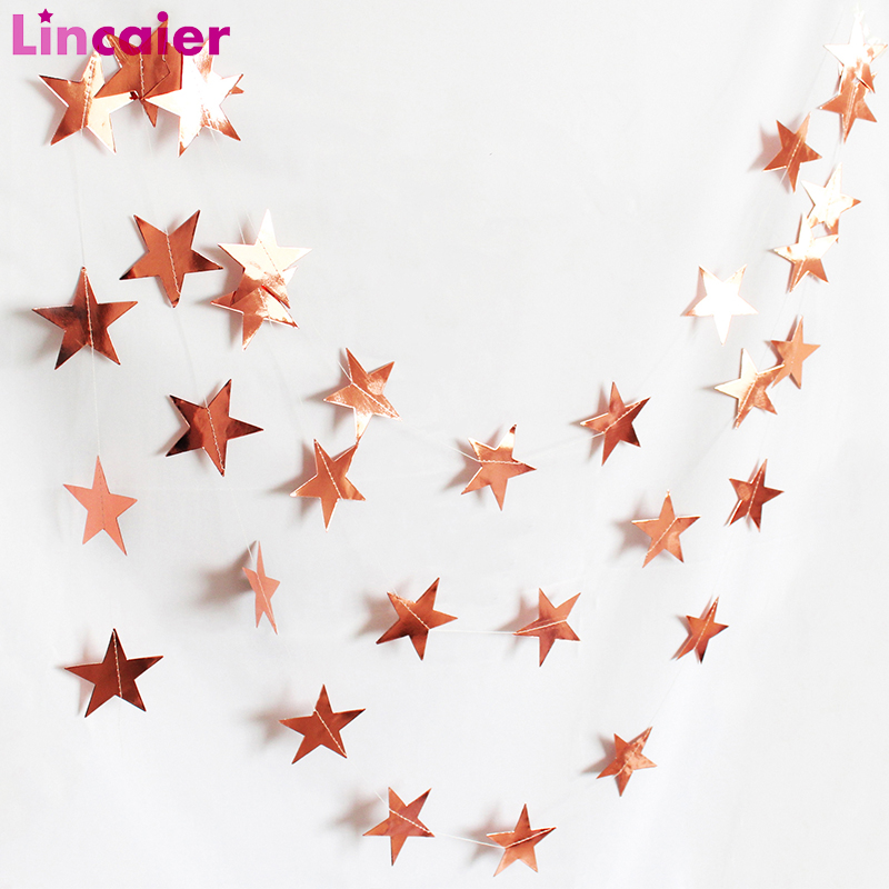 Bright Paper Star Banner Graduation 2019 Party Decoration Just Married Babyshower Boy Girl 21st 30th 40th 50th 60th Birthday