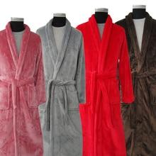 New Arrival Lovers Luxury Silk Flannel Winter Long Bathrobe Mens Kimono Bath Robe Men Women Night Dressing Gown Male Bathrobes