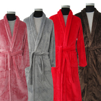 New Arrival Lovers Luxury Silk Flannel Winter Long Bathrobe Mens Kimono Bath Robe Men Women Night