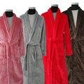 Nuevos Amantes de La Llegada de Lujo de Seda Kimono Albornoz Albornoz de Franela de Invierno Larga Para Hombre Hombres Mujeres Noche Bata Albornoces Masculinas