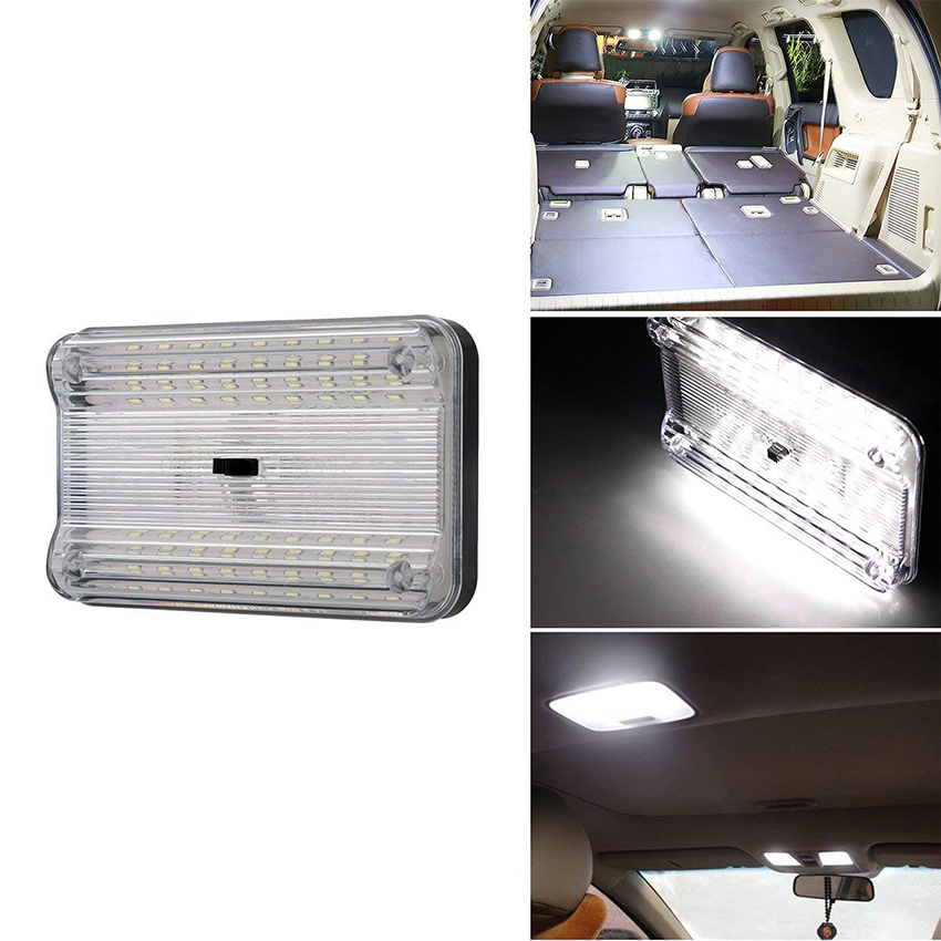 1 Pcs 12V 36 LED Car Truck Vehicle Auto Dome Roof Ceiling Interior Light Lamp White With On/Off Switch for Cars Vans Camper Vans1 Pcs 12V 36 LED Car Truck Vehicle Auto Dome Roof Ceiling Interior Light Lamp White With On/Off Switch for Cars Vans Camper Vans