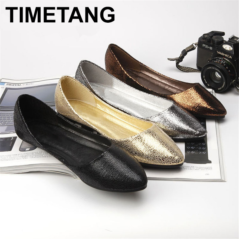 TIMETANG  Spring Summer New Moccasins Women Casual PU Leather Designer Shoes Ladies Slip On Black Silver Gold Solid Big SizeC162 baijiami 2017 new children solid breathable slip on pu casual shoes boys and girls spring summer autumn flat bottom shoes