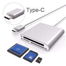 Card Reader Leadzoe USB C 3.0 SD/Micro SD/TF/CF Compact Flash Smart Memory Card Adapter Type C OTG SD Card Reader for PC Laptop sd card reader usb 3 0 otg micro usb type c card reader lector sd memory card reader for micro sd tf usb type c otg cardreader
