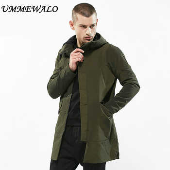 UMMEWALO Casual Long Jacket Hooded Parkas Mens Slim Fit Hoodies Windbreaker Men Autumn Winter Thick Warm Coat Outwear Clothing - DISCOUNT ITEM  0% OFF All Category