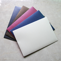 20pcs/set Pearl Paper Envelope 9 Number for A4 Size Paper Blank Envelope Simple Decorative Wedding Invitation Office Portfolio