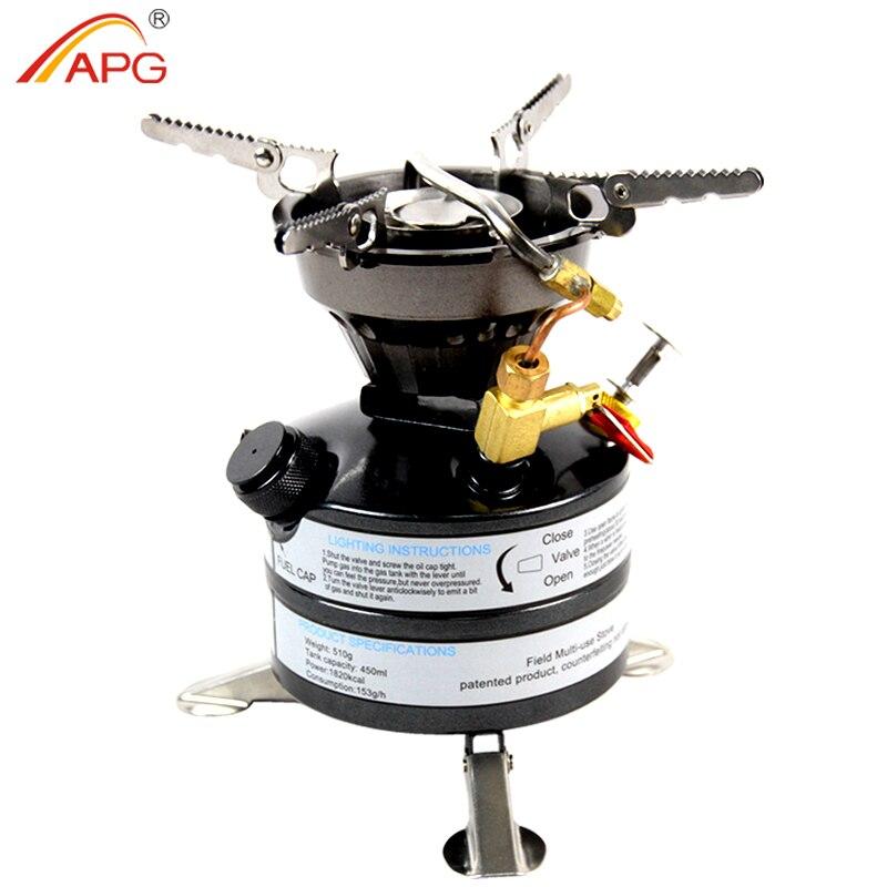 APG Liquid Fuel Benzina Stufe di Campeggio Esterna Portatile di Un pezzo Kerosene Bruciatori Fornello per Outdoor Picnic