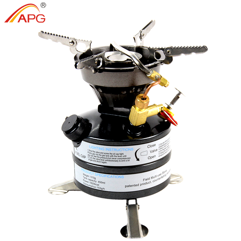 APG Liquid Fuel Camping Gasoline Stoves Portable Outdoor One-piece Kerosene Burners Cooker for Outdoor Picnic image