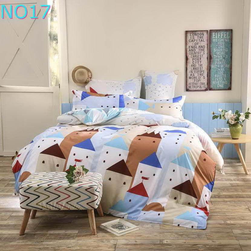 Красивые Облака Стиль хлопковый комплект постельного белья, постельное белье набор 3/постельного белья из 4 предметов, комплект с надписью «розовый», цвет бел - Цвет: Прозрачный