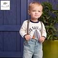 DB4569 дэйв белла весна осень 100% хлопок мальчиков майка детские Футболки детские одежда toddle топы
