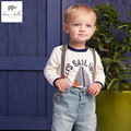 DB4569 dave bella  spring autumn 100% cotton baby boys t shirt  baby T-shirt infant clothes toddle tops