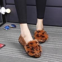 2017 new autumn and winter plush women's shoes flat bottom plus velvet bean shoes cotton shoes bow students to drive shoes