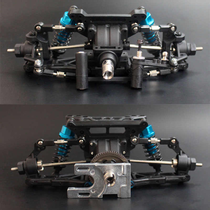 1/10 RC Model Car On-Road Drift Car Frame  Front and Rear DIY assemblies