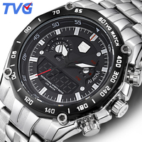 TVG Luxury Brand Watch Men Waterproof Quartz Men Sports Watches Analog Military LED Digital Watch WristWatch Relogio Masculino