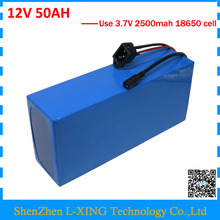 Высокое качество 12 В 50AH батарея 12 В 50AH 50000 мАч литий-ионный аккумулятор для 12 В 3 S литий-ионный аккумулятор с 5A зарядное устройство ЕС США нет налога