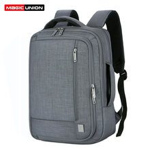 цена на MAGIC UNION Multifunction USB Charging Men 15.6inch Laptop Backpacks for Teenager Fashion Male Mochila Travel Backpack