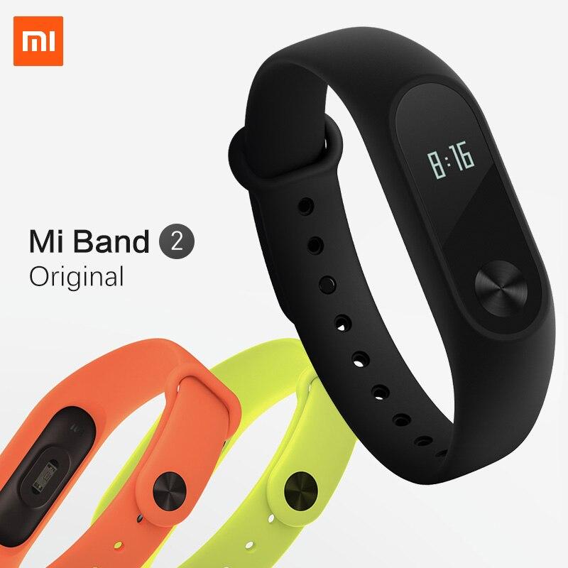 Xiao Mi mi Группа miband 2 2 импульса смарт-Спорт сна сердечного ритма Мониторы браслет Фитнес трекер Браслет IP67 Водонепроницаемый ремень