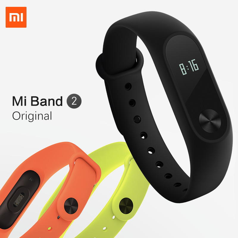 Xiaomi Mi Band 2 MiBand 2 Pulse Smart Sport Sleep Heart Rate Monitor Bracelet Fitness Tracker Wristband IP67 Waterproof Strap