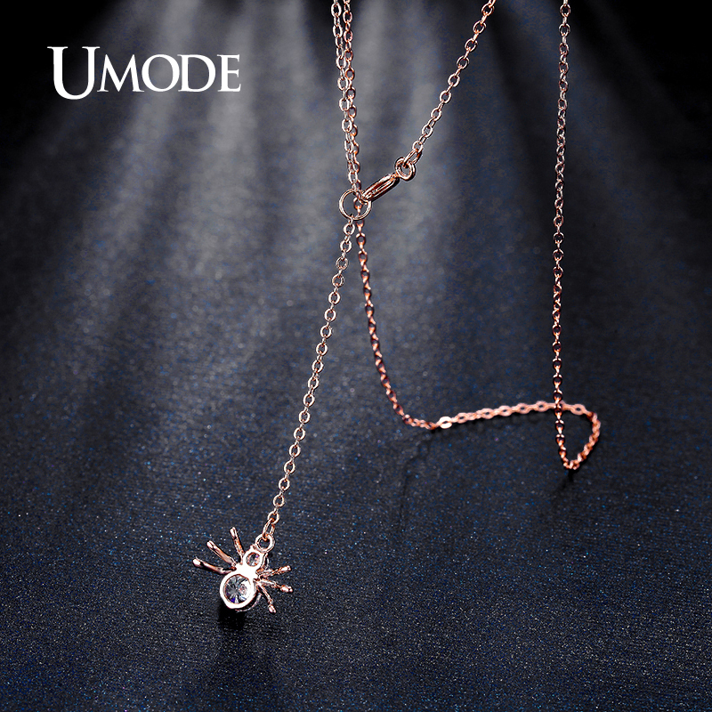UMODE Brand New Spider Shape Rose Gold Color Top CZ Pendants - Fashion Jewelry - Photo 3