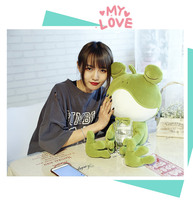 large 70cm lovely cartoon frog plush toy soft cotton doll throw pillow birthday gift s2876