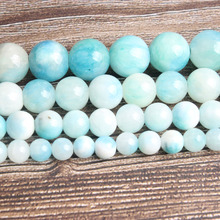 LanLi fashion natural Jewelry 6-12mm sky-blue The Persian jades Loose beads DIY woman bracelet necklace ear stud accessories