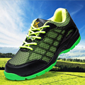 men big size summer dress steel toe caps work safety shoes breathable air mesh plate sole non-slip outdoor hiking tooling boots