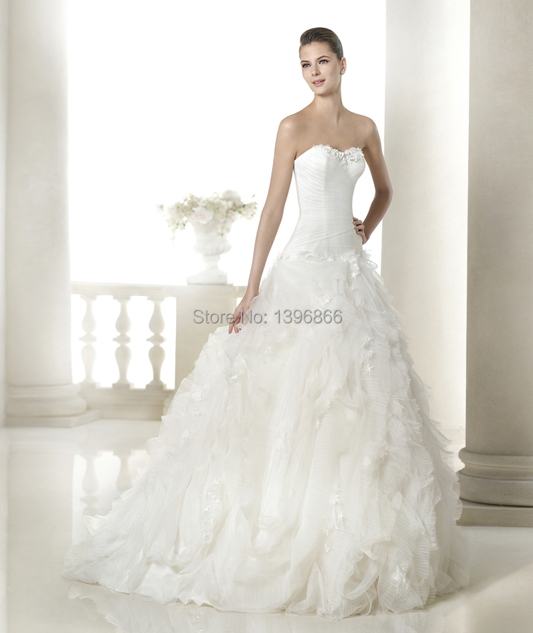 Most Beautiful Ball Gown Wedding Dresses: Free Shipping Romantic Most Beautiful Wedding Dress 2015