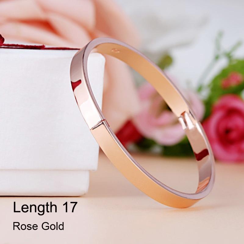 De lujo de acero inoxidable brazalete brazaletes y brazaletes Top - Bisutería - foto 4