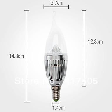 Free shipping 10X CE&Rohs E14 E27 E12 E26 base fitting Dimmable 4x3w 12w AC85-265V warm / cold white LED candle bulb corn light