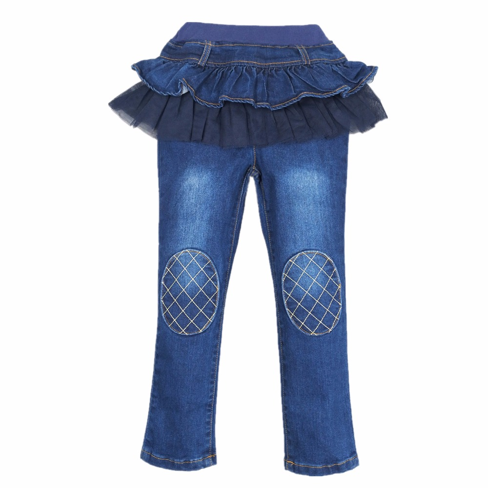 65d74a804e Girls Clothes Girl Pants Autumn Winter Tutu Skirt Jeans Leggings Kids Denim  Trousers Fleece Warm Outfits Children Clothing